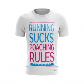 WHITE RUNNING SUCKS TEE