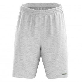 WHITE GEOMETRIC SHORTS